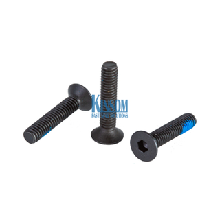 Stainless Steel 304 Countersunk Socket Hex Machine Screws with Blue Nylon Patch