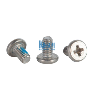 Stainless Steel Screws Countersunk Philips Cross Recessed Machine Screws with Blue Nylon Patch