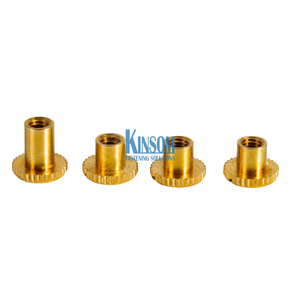 Custom Fasteners brass copper Rivet Nuts Knurling Internal Thread Riveting